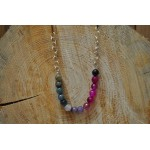 Rainbow multi coloured Agate necklace