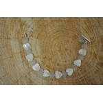 Rose Quartz Mother Pearl Heart Bracelet