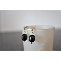 Black Pearl Ear Rings