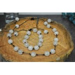 Gemstone shamballa style friendship bracelet and necklace