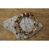 Multi Gem Memory Wire bracelet